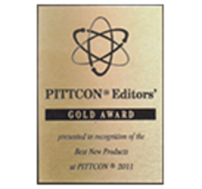 Cesaroni Design won a Pittcon Edtiror's Gold Award