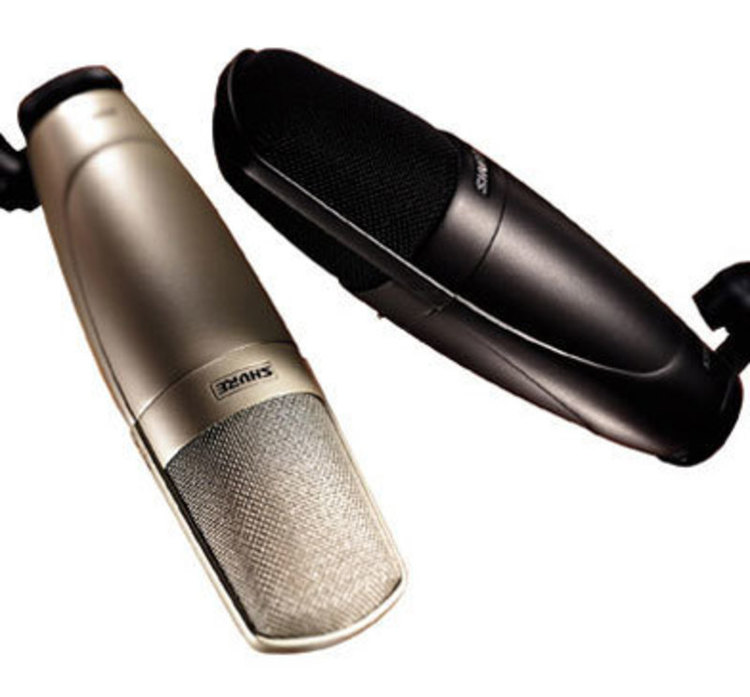 Champagneand Black color options for the  KSM32 Microphone