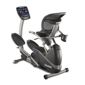 Reverse three quarters front view of the xR3 elliptical machine