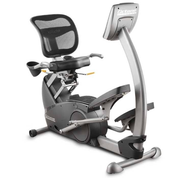 Three quarters front view of the xR3 elliptical machine