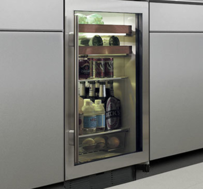 In context view showing a beverage unit installed under a counter