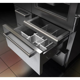 Rendering view that shows a drawer extended with its slider door open