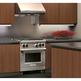 In Context View Of The Dual Fuel Range Installed Into A Kitchen Counter