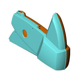 CAD view of the two molded sides that make up the base cover