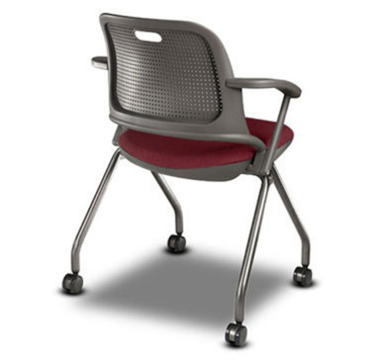 Rear three quarters rendering of the Get Set Chair