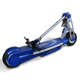 View of the ION 360 Scooter with its handlebar folded down