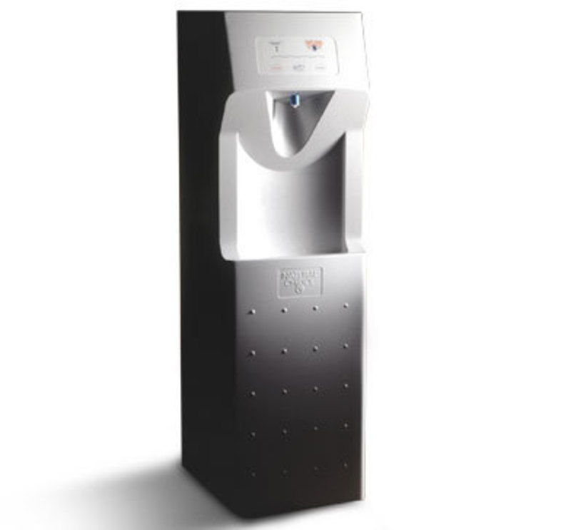 Three quarters front view of the natural choice water cooler
