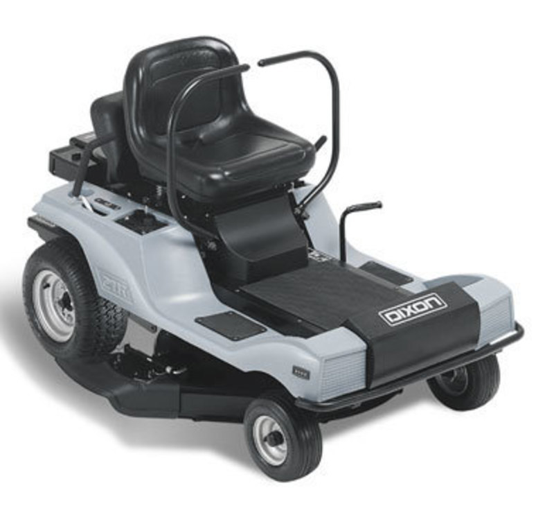 Three quarters front view of the final design for the ZTR3000 Riding lawn mower