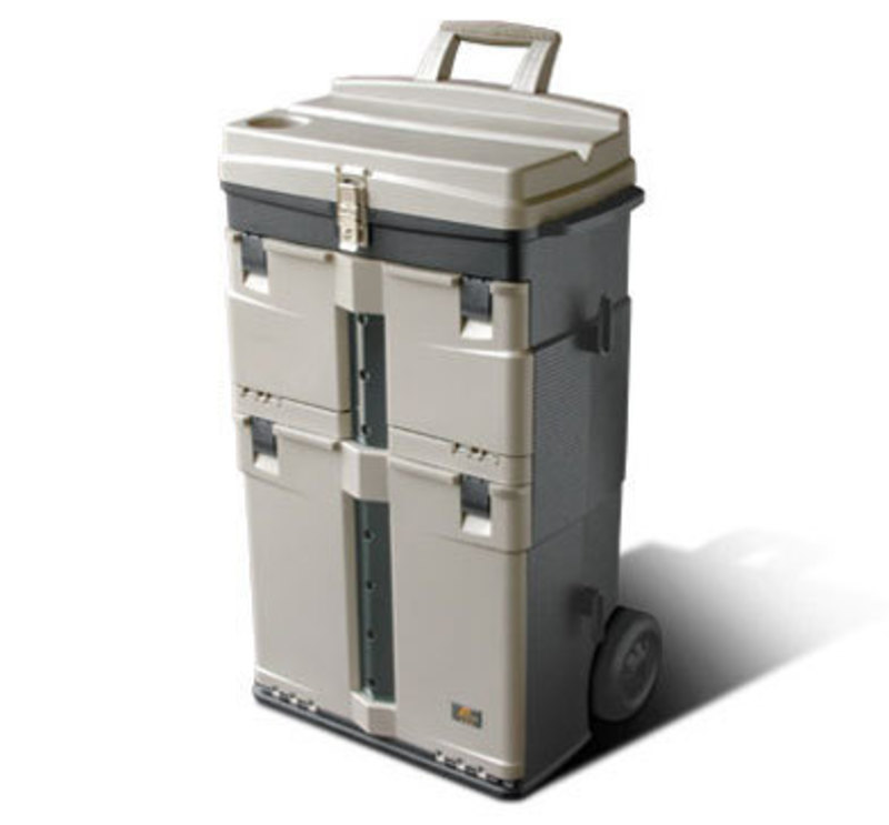 Three quarters front view of the PRO 826 tool storage box