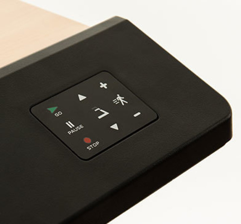 Detail view of InMovement's treadmill controls