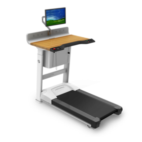 Three quarters front view of the InMovement TreadMill Desk