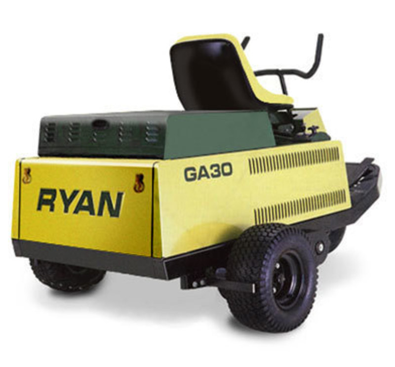 OMC Cushman : RYAN GA30® Tractor and Aerator Riding Machine