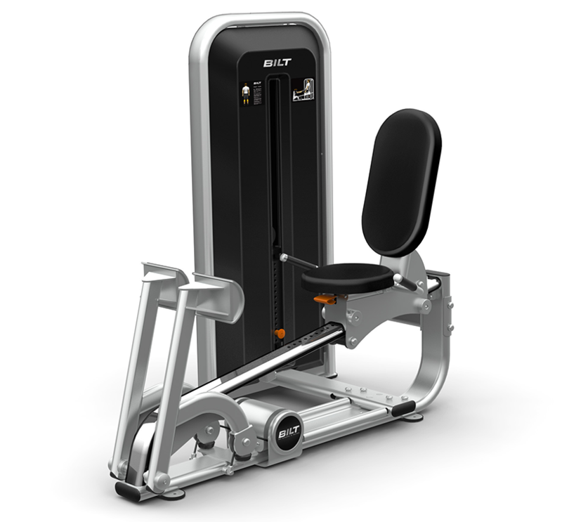 Front three quarters view of the BILT Calf Flex Machine