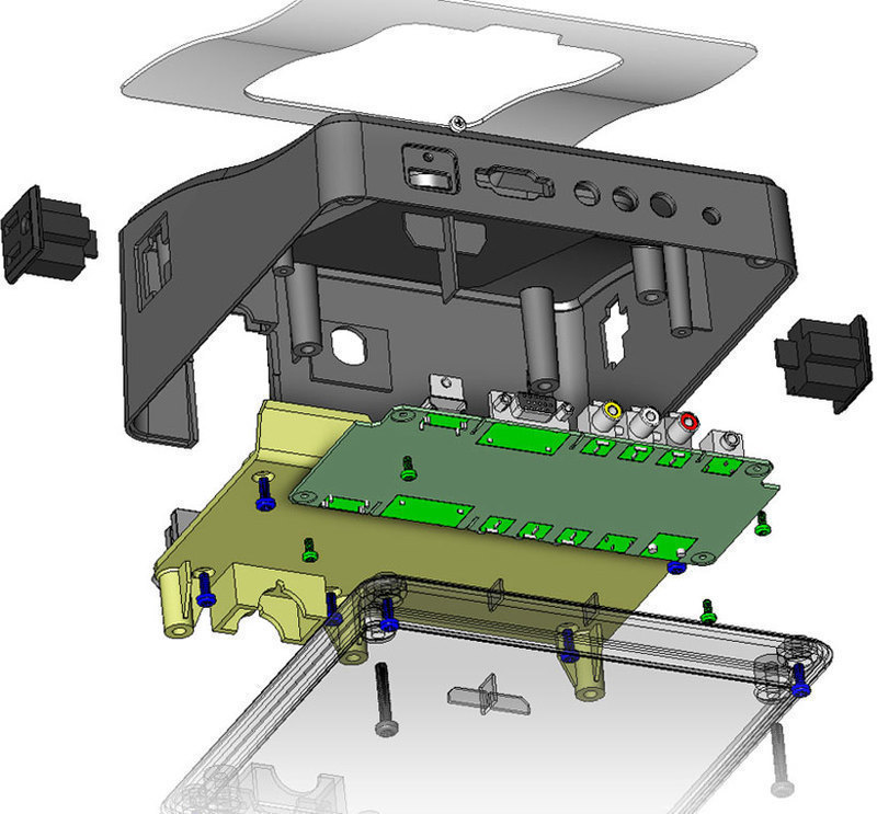 SolidWorks exploded view of the Auto-Sensing Remote Jack Pack