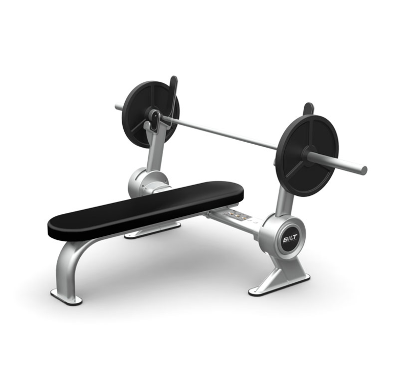 Front three quarters view of the BILT Flat weight bench