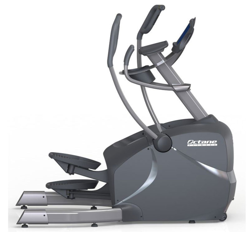 Side view of the LX 8000 Elliptical machine