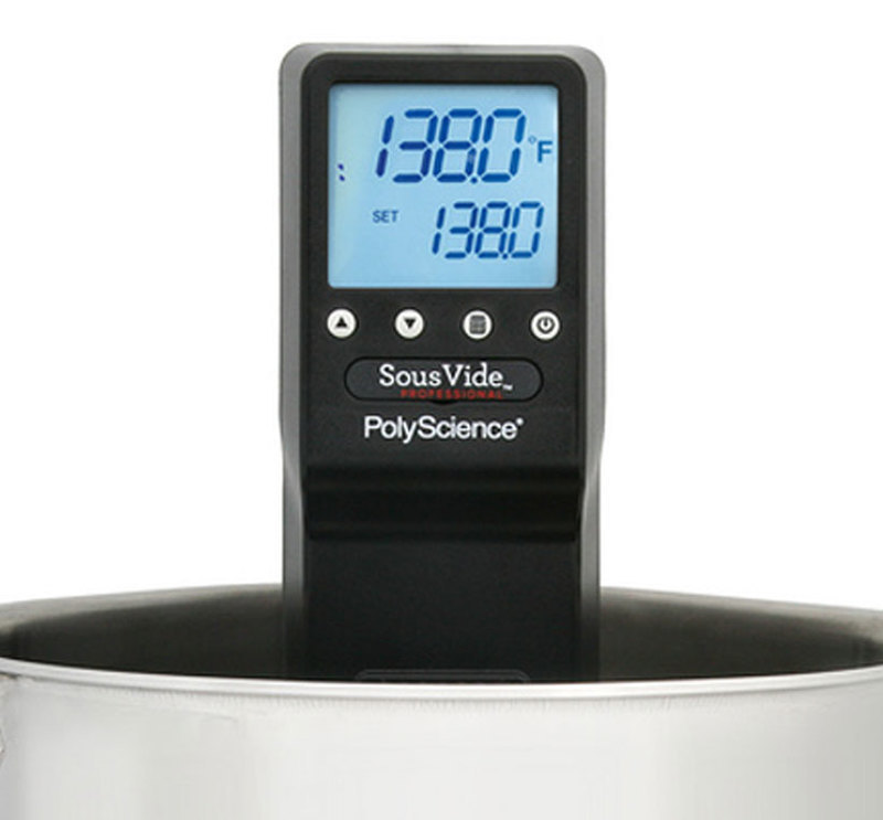 Front view showing an enlarged detail of the product display for the Sous Vide Professional