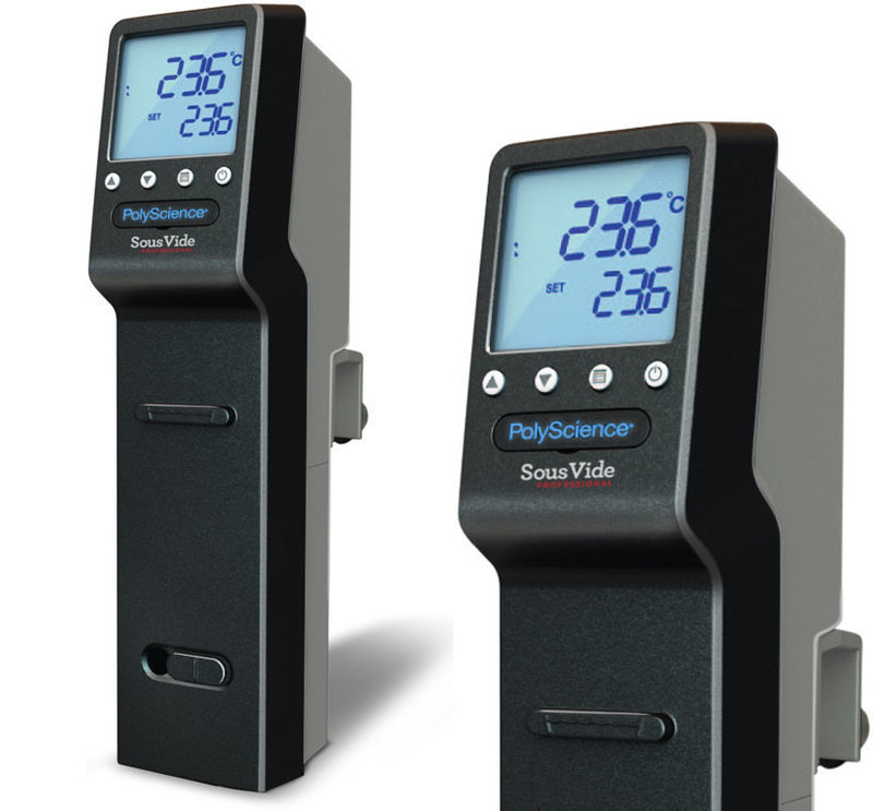 Three-quarters front view showing an enlarged detail of the product display for the PolyScience: Sous Vide Professional