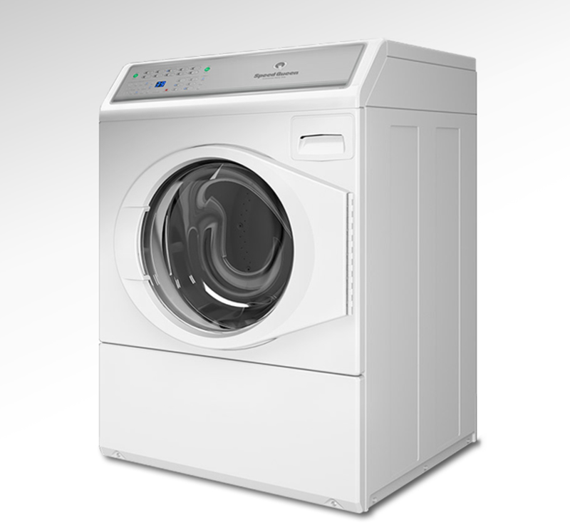 Three quarters front view of the Alliance front Load washer