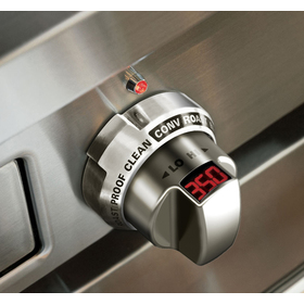 Close up view of the control knob for the Wolf Induction range