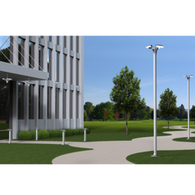 Rendering showing the selected concept in a daytime outdoor setting