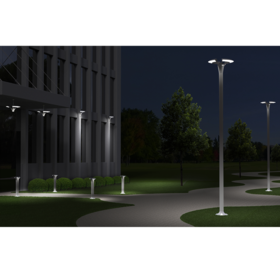 Rendering showing the selected concept in a nighttime outdoor setting