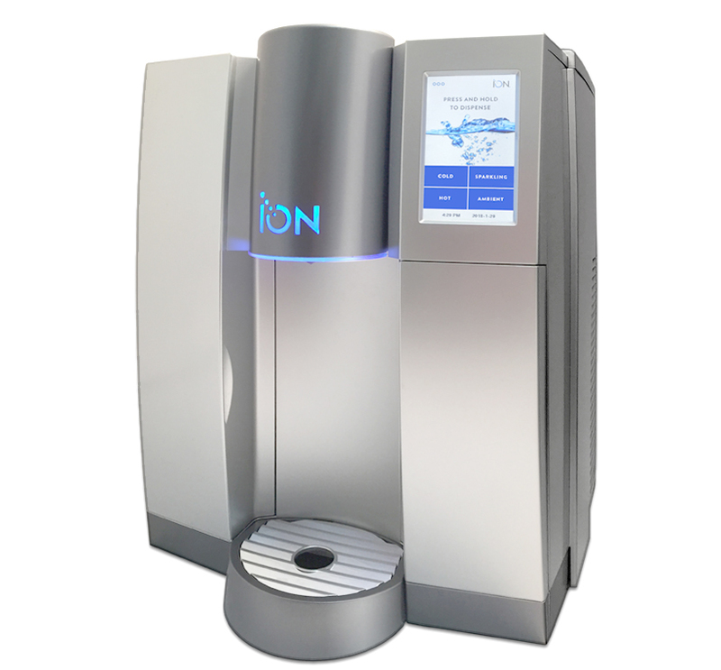 Three quarters front view of ION water cooler