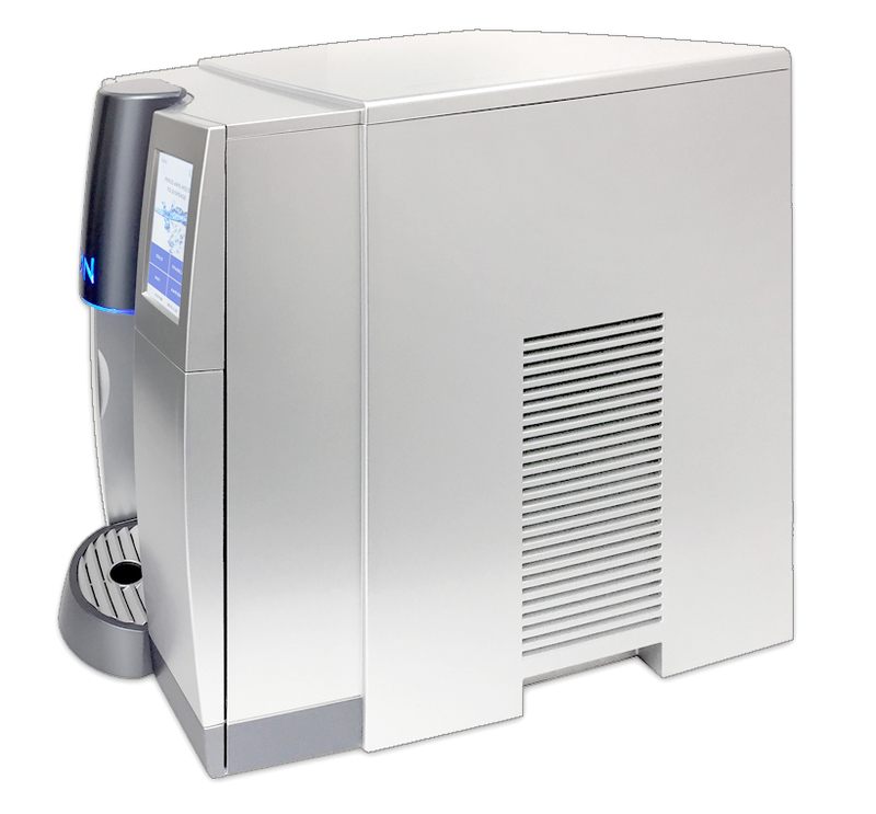Side view of the ION water cooler