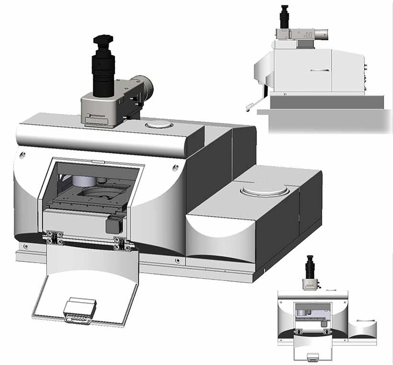 Detail views of the initial design for the mIRage IR Microscope
