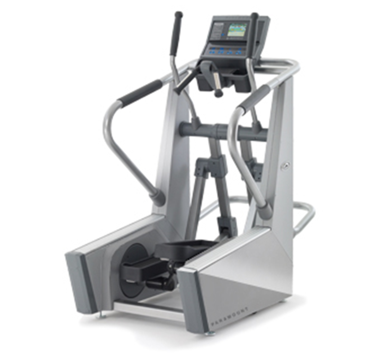 Front three quarters production model view of the Elliptical trainer