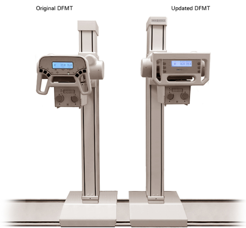 Comparison image showing the original DFMT next to the updated design created by CDA