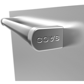 Side view of the Cove Dishwasher pro handle featuring the Cove logo stamped into its side