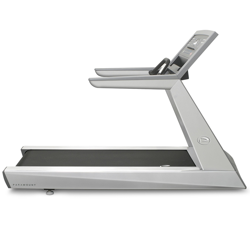 Side view of the Paramount fitness treadmill