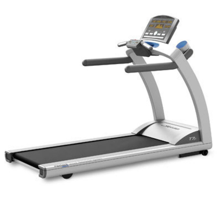 Rear three quarters rendering view of the t-series treadmill