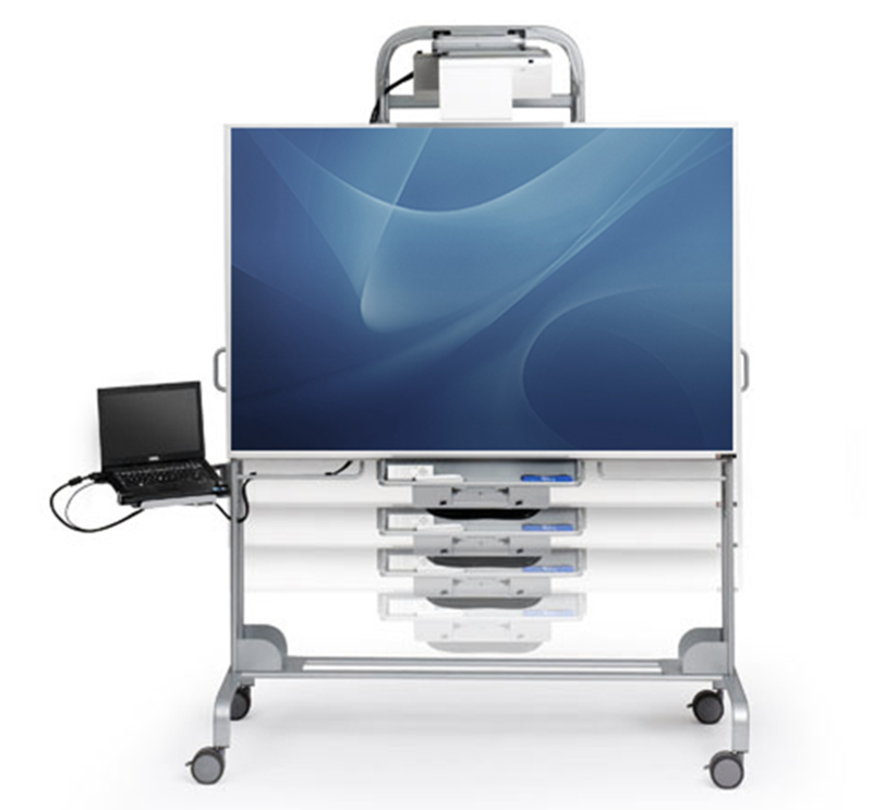 Front view of the explore mobile interactive whiteboard