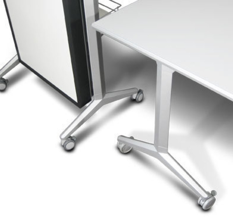 Overhead view showing how the Rhombii lectern and table legs match