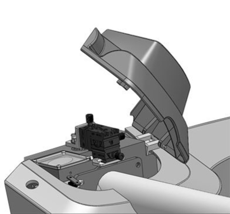 Citius LC-HRT High Resolution TOFMS detail view of a protective shroud concept open