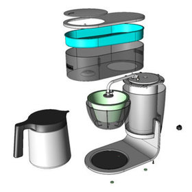 Exploded view of the stx thermal home brewer