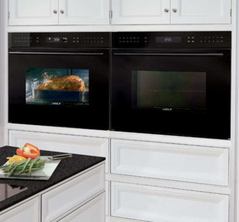 Wolf Appliance, Inc.: E Series Black Glass, Built-In Wall Oven